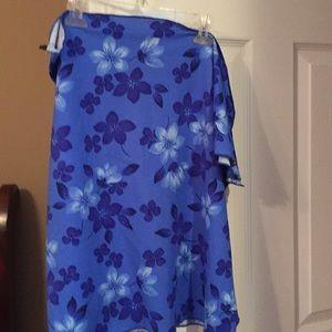 Swim coverup in blue florals